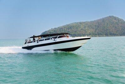 Фотообои Крейсерская скорость лодки в Андаманском море, Таиланд