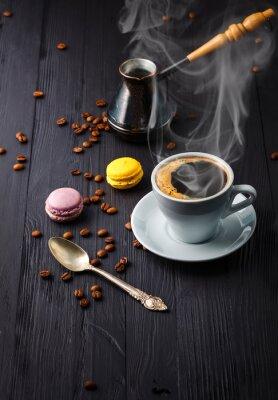 Фотообои Чашка кофе с зерном и турке