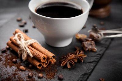 Фотообои Чашка кофе на каменной доске