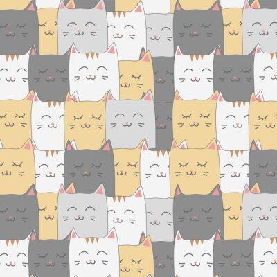 Фотообои Симпатичные очаровательны кошки котенка бесшовные обои фон обои