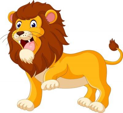 Фотообои Симпатичный лев мультфильм иллюстрации