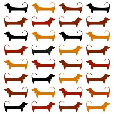 Фотообои dachshund_pattern_template