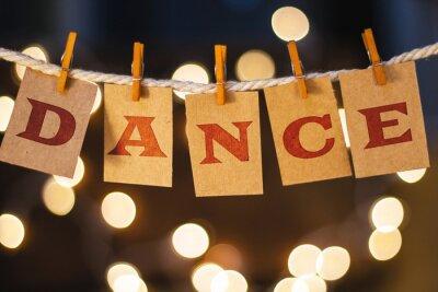 Фотообои Dance Concept Clipped Cards and Lights