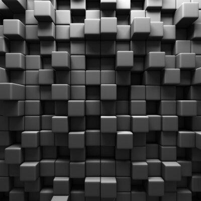 Фотообои Темно-серый куб Блоки фоне стены