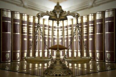 Фотообои Декоративные весы правосудия