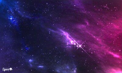 Фотообои Глубокий космос. Векторная иллюстрация космической туманности с звездного скопления.