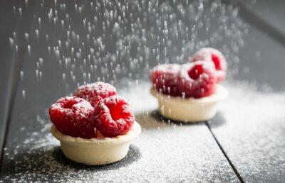 Фотообои вкусный десерт пироги со свежей малиной