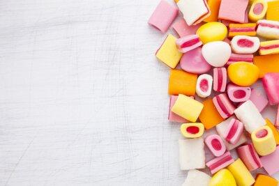 Фотообои Вкусные сладкие конфеты с копией пространства