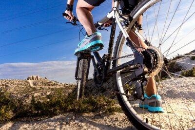 Фотообои Deportes. Bicicleta de montaña y hombre.Deporte en exterior