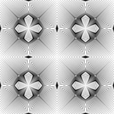 Фотообои Дизайн бесшовных монохромный геометрический узор