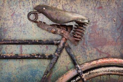 Фотообои Деталь ржавый велосипед древней с кожаным сиденьем