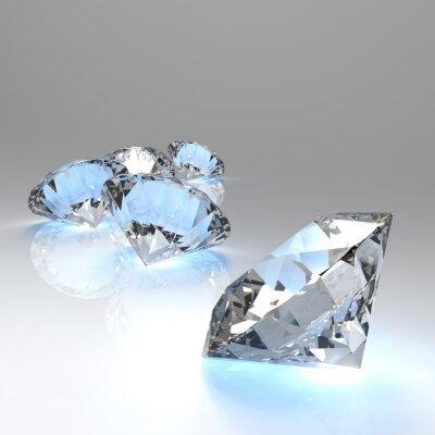 Фотообои Алмазы 3d в составе