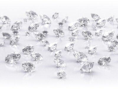 Фотообои алмазы большая группа на белом фоне
