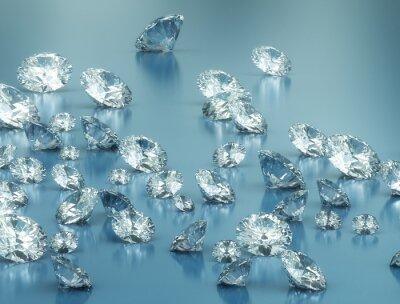Фотообои Бриллианты на синем фоне
