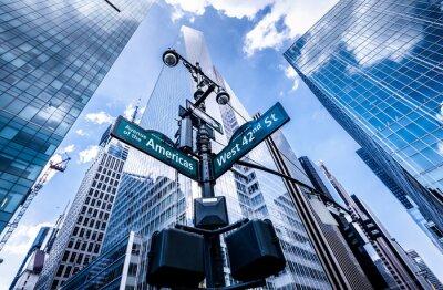 Фотообои Указатели в Нью-Йорке