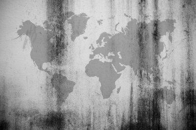 Фотообои Грязные стены карта