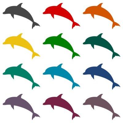 Фотообои установить Дельфин иконки