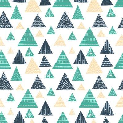 Фотообои Doodle треугольник бесшовные шаблон
