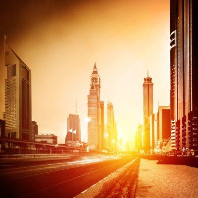 Фотообои Город Дубай в закат