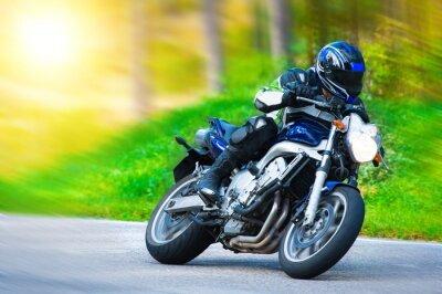 Фотообои Динамический гоночный мотоцикл
