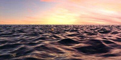 Фотообои Ранние волны Восход Панорама над океаном