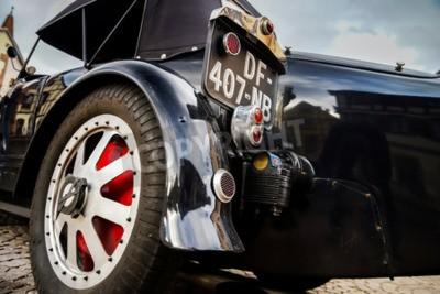 Фотообои Editorial, 12 сентября 2015: Франция: XXXIIeme Фестиваль Enthousiastes Bugatti в Molsheim. Старинная машина.