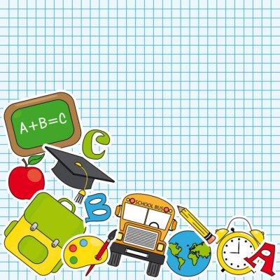 Фотообои Образование и значок школы множество. Место для текста