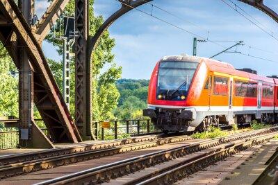 Фотообои Электровоз во Франкфурте