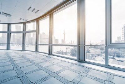 Фотообои пустой кабинет в современных офисных зданий в восход солнца