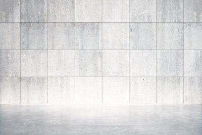 Фотообои Пустая комната с бетонным полом и стеной