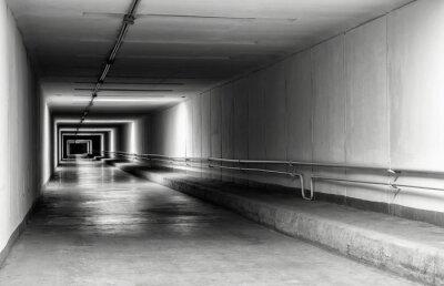 Фотообои Пустой туннель в ночное время