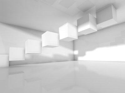 Фотообои Пустой белый архитектура, 3 d иллюстрации