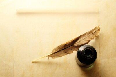 Фотообои Конверт с чернильницей и пером