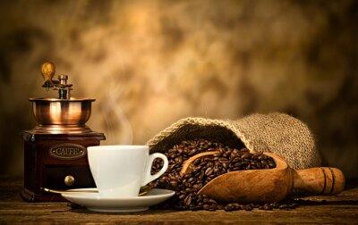 Фотообои Эспрессо кофе со старым кофемолке
