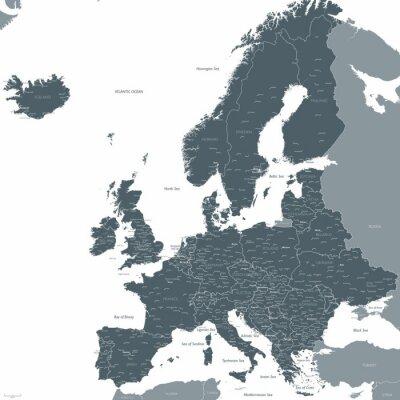 Фотообои карта вектор Европа