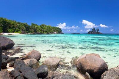 Фотообои exotischer Strand Ауф ден Сейшельские Острова