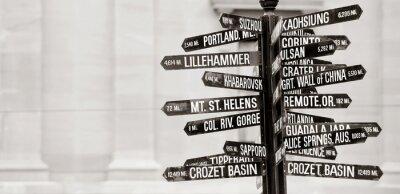 Фотообои Известный указатель к достопримечательностей в Портленде, Орегон