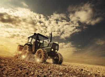Фотообои Фермер в области рулем трактора