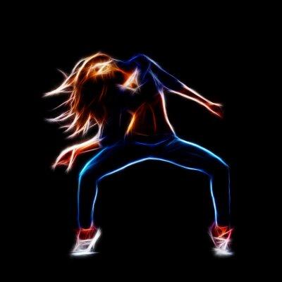 Фотообои Танцовщица хип-хоп