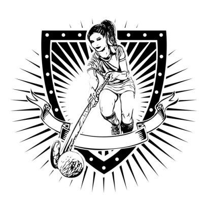 Фотообои хоккей на траве щит