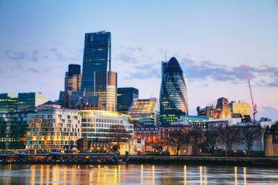 Фотообои Финансовый район города Лондон