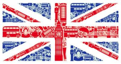 Фотообои Флаг Англии от символов Соединенного Королевства и Лондоне