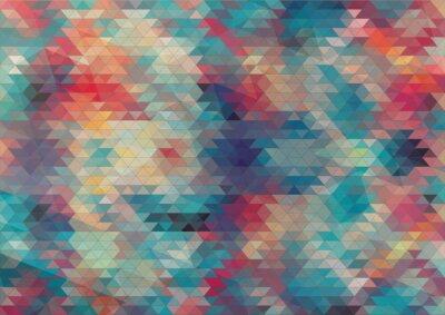 Фотообои плоский дизайн геометрический красочный фон
