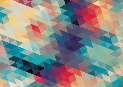 Фотообои плоский дизайн геометрический ретро красочный фон