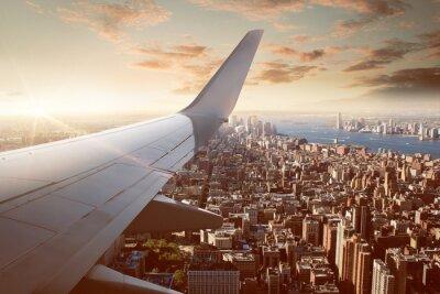 Фотообои Полет над Нью-Йорке