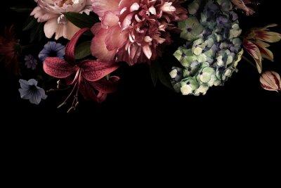 Фотообои Floral card. Vintage flowers.