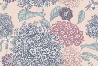 Фотообои Floral pastel color background. Vintage seamless pattern. Vintage. Vector.