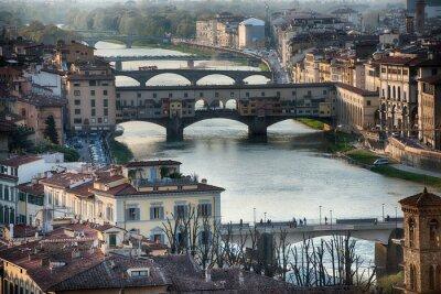 Фотообои Флоренция Понте Веккио вид закат