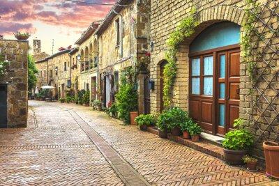 Фотообои Цветок заполнены улицы старого итальянского города в Тоскане.