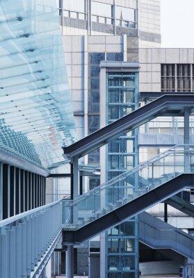 Фотообои Пешеходный мост и лестница